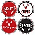 Prancing Plaid - Christmas & Holiday Buffalo Plaid Party Reindeer Funny Name Tags - Party Badges Sticker Set of 12