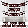 Prancing Plaid - Happy Holidays Bunting Banner & Buffalo Plaid Decorations