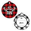 Prancing Plaid - Buffalo Plaid Holiday To and From Favor Gift Tags - Set of 20