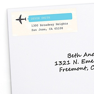 Precious Cargo - Blue - Personalized Baby Shower Return Address Labels - 30 ct