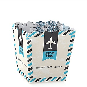 Precious Cargo - Blue - Party Mini Favor Boxes - Personalized Baby Shower Treat Candy Boxes - Set of 12