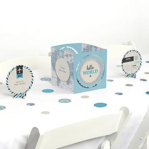 Precious Cargo - Blue - Baby Shower Centerpiece & Table Decoration Kit