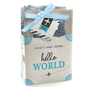 Precious Cargo - Blue - Personalized Baby Shower Favor Boxes