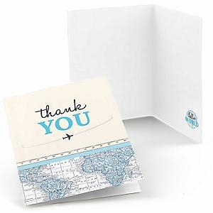 Precious Cargo - Blue - Baby Shower Thank You Cards - 8 ct