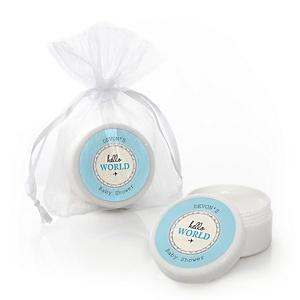 Precious Cargo - Blue - Personalized Baby Shower Lip Balm Favors - Set of 12