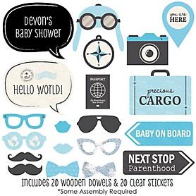 Precious Cargo - Blue - 20 Piece Photo Booth Props Kit