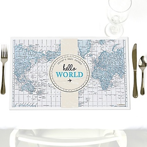 Precious Cargo - Blue - Personalized Baby Shower Placemats