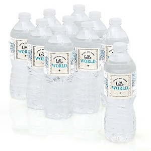 Precious Cargo - Blue - Personalized Baby Shower Water Bottle Sticker Labels - Set of 10