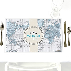 Precious Cargo - Blue - Party Table Decorations - Baby Shower Placemats - Set of 12