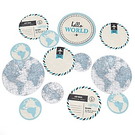 Precious Cargo - Blue - Baby Shower Giant Circle Confetti - Boy Baby Shower Decorations - Large Confetti 27 Count