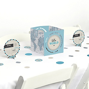 Precious Cargo - Blue - Boy Baby Shower Centerpiece and Table Decoration Kit
