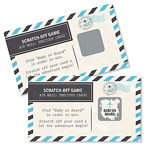 Precious Cargo - Blue - Baby Shower Game Scratch Off Cards - 22 ct
