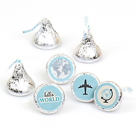 Precious Cargo - Blue - Round Candy Labels Baby Shower Favors - Fits Hershey's Kisses - 108 ct