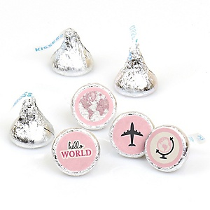 Precious Cargo - Pink - Party Favors Round Baby Shower Candy Labels - Fits Hershey's Kisses - 108 ct
