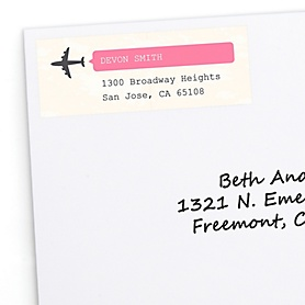 Precious Cargo - Pink - Personalized Baby Shower Return Address Labels - 30 ct