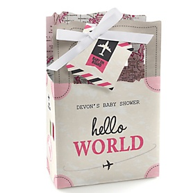 Precious Cargo - Pink - Personalized Baby Shower Favor Boxes - Set of 12