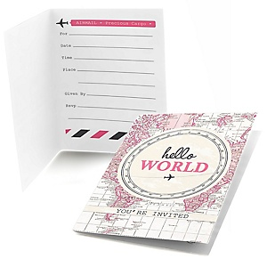 Precious Cargo - Pink - Fill in Baby Shower Invitations - 8 ct