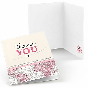 Precious Cargo - Pink - Baby Shower Thank You Cards - 8 ct