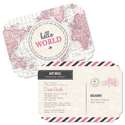 Precious cargo pink shaped baby shower invitations set of 12 precious cargo pink shaped baby shower invitations set of 12 bigdotofhappiness filmwisefo
