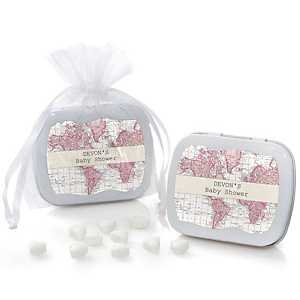 Precious Cargo - Pink - Personalized Baby Shower Mint Tin Favors