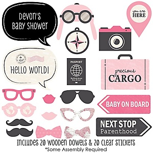 Precious Cargo - Pink - 20 Piece Photo Booth Props Kit