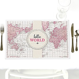 Precious Cargo - Pink - Party Table Decorations - Baby Shower Placemats - Set of 12