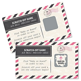 Precious Cargo - Pink - Baby Shower Game Scratch Off Cards - 22 ct