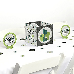 Prickly Cactus Party - Fiesta Party Centerpiece and Table Decoration Kit