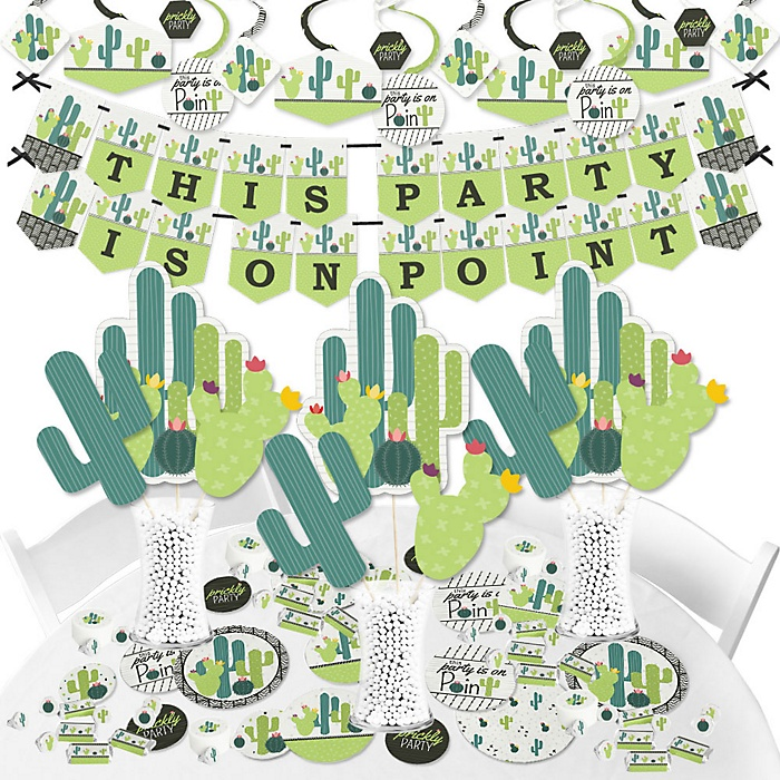 Prickly Cactus Party - Fiesta Party Supplies - Banner Decoration Kit - Fundle Bundle