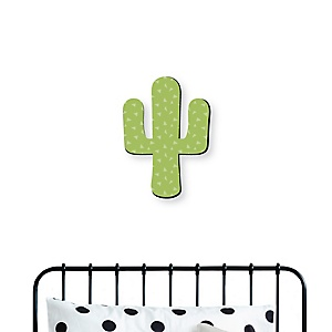 Prickly Cactus Party - Nursery, Kids Room and Fiesta Home Decorations - Shaped Wall Art - 1 Piece