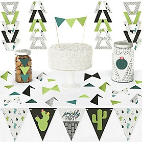 Prickly Cactus Party - DIY Pennant Banner Decorations - Fiesta Party Triangle Kit - 99 Pieces