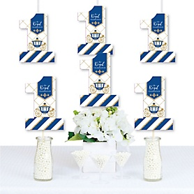 1st Birthday Royal Prince Charming - One Shaped Decorations DIY First Birthday Party Essentials - Set of 20