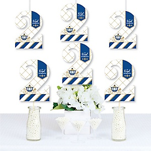 2nd Birthday Royal Prince Charming - Two Shaped Decorations DIY Second Birthday Party Essentials - Set of 20