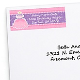 Pretty Princess - Personalized Baby Shower Return Address Labels - 30 ct