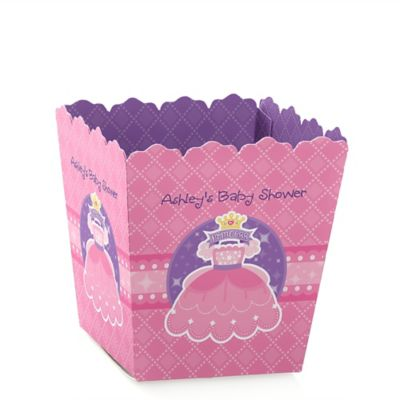 Pretty Princess   Personalized Baby Shower Candy Boxes