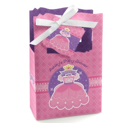 Pretty Princess   Personalized Baby Shower Favor Boxes