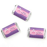 Pretty Princess - Personalized Baby Shower Mini Candy Bar Wrapper Favors - 20 ct