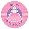 Pretty Princess - Personalized Birthday Party Sticker Labels - 24 ct