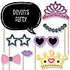 Pretty Princess - 20 Piece Photo Booth Props Kit
