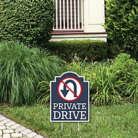 Private Drive - Outdoor Lawn Sign - Driveway Yard Sign - 1 Piece