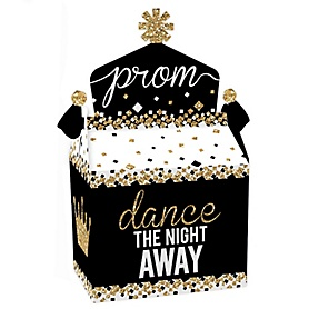 Prom - Treat Box Party Favors - Prom Night Party Goodie Gable Boxes - Set of 12