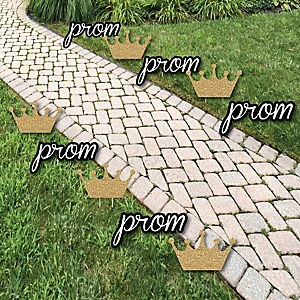 Prom - Crown Lawn Decorations - Outdoor Prom Night Party Yard Decorations - 10 Piece