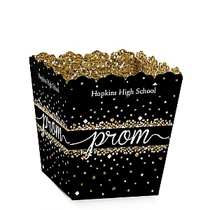 Prom - Party Mini Favor Boxes - Personalized Prom Night Party Treat Candy Boxes - Set of 12