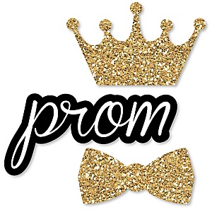 Prom - DIY Shaped Prom Night Party Cut-Outs - 24 ct