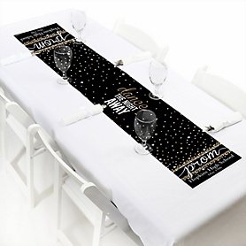 "Prom - Personalized Petite Prom Night Party Table Runner - 12"" x 60"""