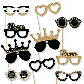 Prom Glasses - Prom Night Paper Card Stock Prom Party Photo Booth Props Kit - 10 Count