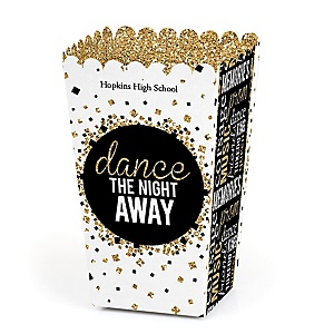 Prom - Personalized Prom Night Party Popcorn Favor Treat Boxes - Set of 12