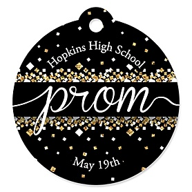 Prom - Personalized Prom Night Party Favor Gift Tags - 20 ct