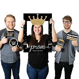 Prom - Personalized Prom Night Party Selfie Photo Booth Picture Frame & Props - Printed on Sturdy Material