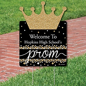 Prom - Party Decorations - Prom Night Party Personalized Welcome Yard Sign